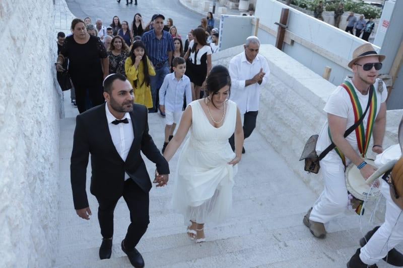 חתונה בכותל שרי ואורן12