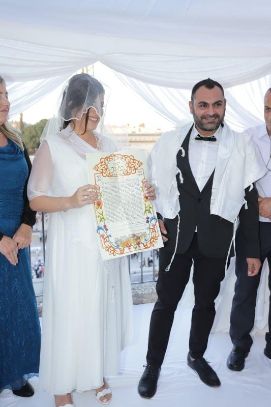 חתונה בכותל שרי ואורן7